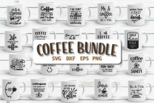 Download Free Coffee Quotes Bundle Graphic By Craft Pixel Perfect Creative for Cricut Explore, Silhouette and other cutting machines.