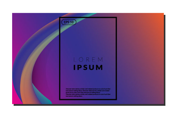 Print on Demand: Colorful Fluid Wavy  Background Graphic Backgrounds By iop_micro