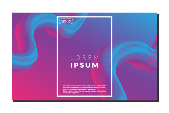 Print on Demand: Colorful Fluid Wavy Geometric Background Graphic Backgrounds By iop_micro