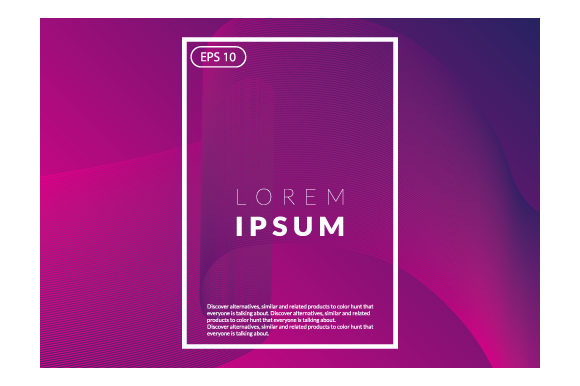 Print on Demand: Colorful Fluid Wavy Geometric Graphic Backgrounds By iop_micro