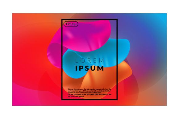 Print on Demand: Colorful Fluid Geometric Background Graphic Backgrounds By iop_micro