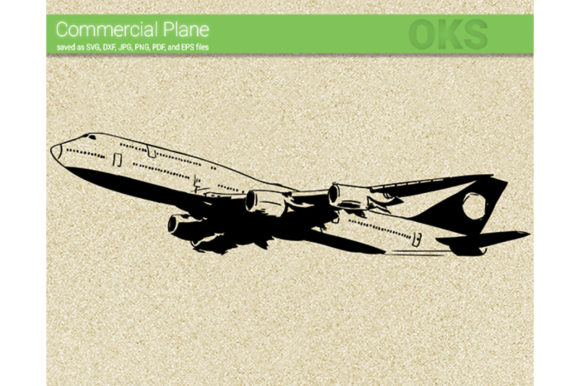 Print on Demand: Commercial Plane Svg Vector Graphic Crafts By CrafterOks