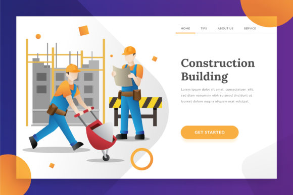 Construction Building - Landing Page Graphic Illustrations By Fand