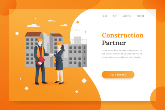 Construction Landing Page Graphic Illustrations By Fand
