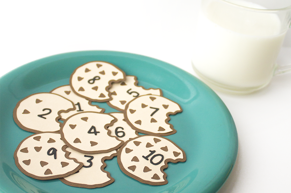 photograph relating to Cookie Printable named Cookie Counting Sport SVG Printable PDF