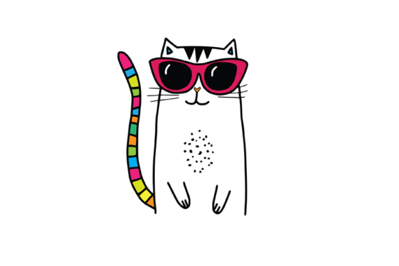 Cool Cat Graphic By Carrtoonz Creative Fabrica