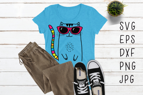 Cool Cat SVG Graphic By carrtoonz
