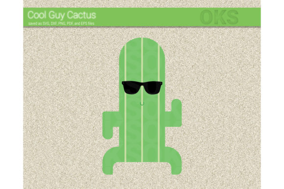 Download Free Cool Guy Cactus Svg Vector Graphic By Crafteroks Creative Fabrica for Cricut Explore, Silhouette and other cutting machines.