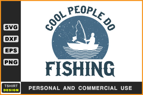 Download Free Cool People Do Fishing Fishing Svg Graphic By Handmade Studio for Cricut Explore, Silhouette and other cutting machines.