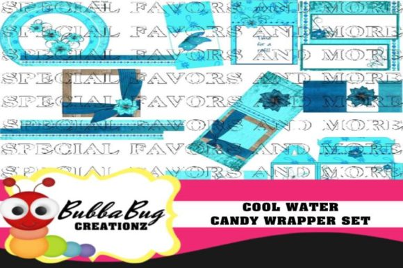 Cool Water Candy Wrapper Set Graphic Crafts By BUBBABUG