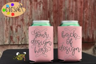 Coral Can Cooler Mockup Graphic Product Mockups By 616SVG