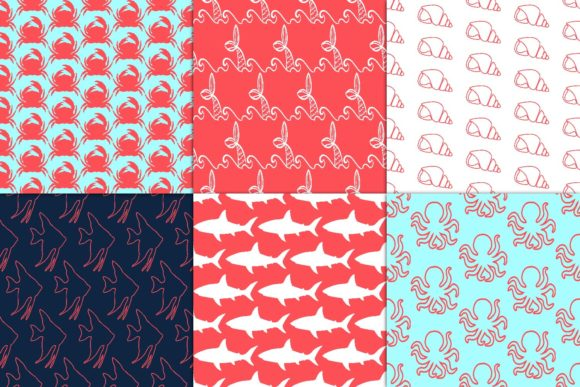 Print on Demand: Coral Fantasy Digital Paper Graphic Patterns By fantasycliparts - Image 3