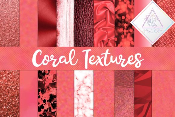 Print on Demand: Coral Textures Digital Paper Graphic Textures By fantasycliparts