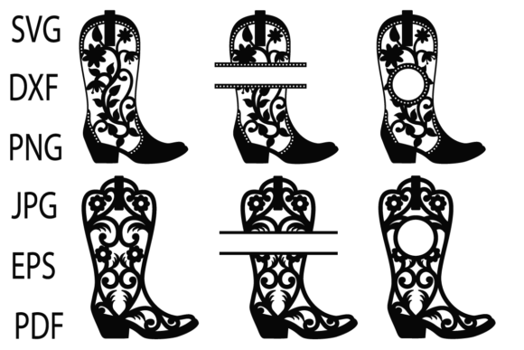 Print on Demand: Cowgirl Boots  Graphic Crafts By yulnniya