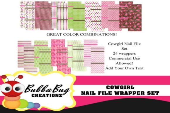 Cowgirl Nail File Wrappers Graphic Crafts By BUBBABUG - Image 1