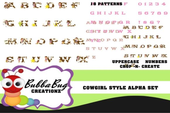 Cowgirl Style Alpha Set Graphic Crafts By BUBBABUG