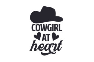 Cowgirl at Heart Cowgirl Craft Cut File By Creative Fabrica Crafts