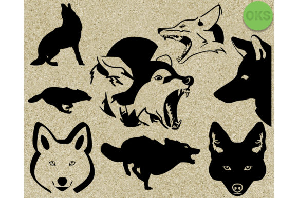 Download Free Coyote Clipart Graphic By Crafteroks Creative Fabrica for Cricut Explore, Silhouette and other cutting machines.