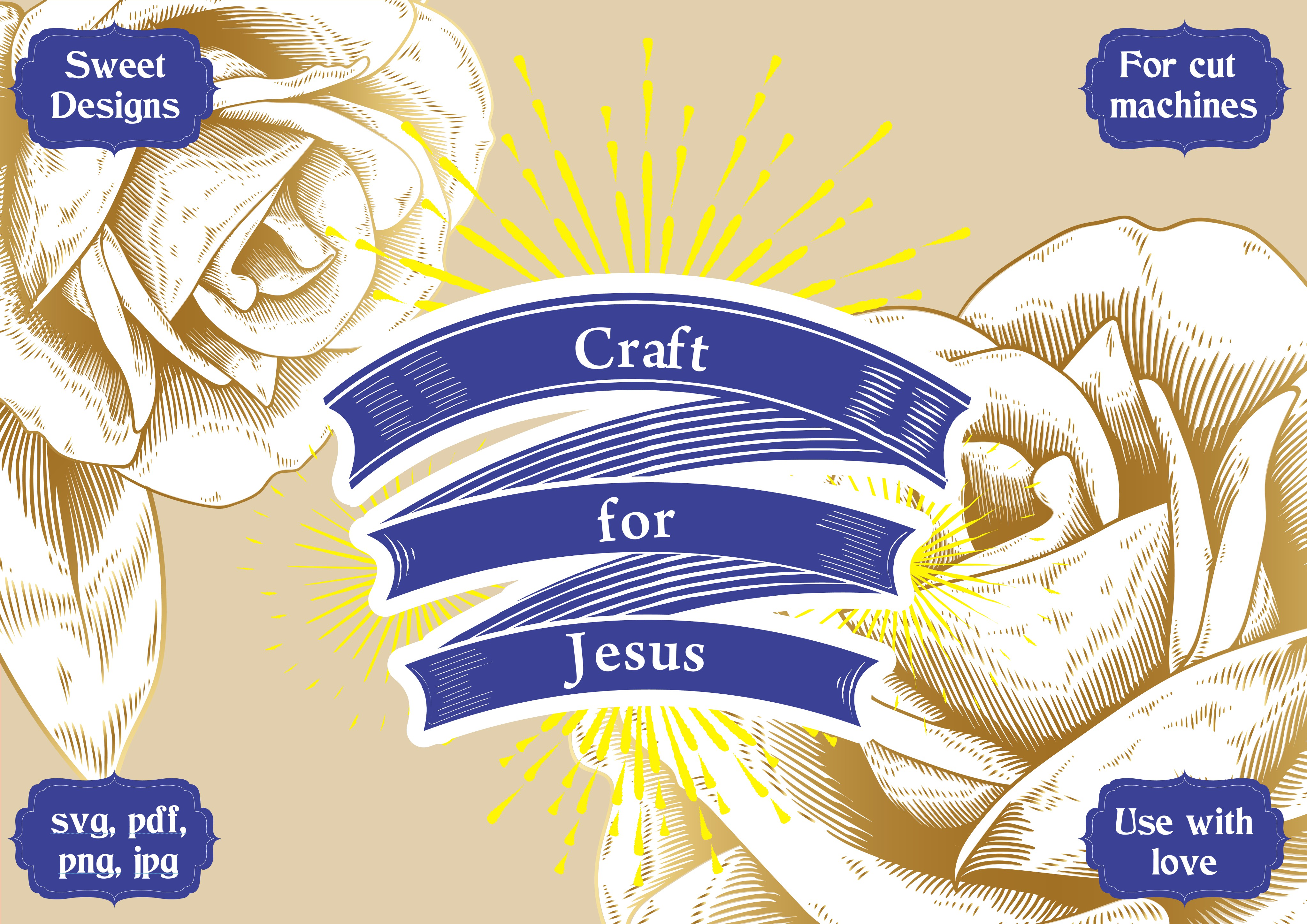 Download Free Craft For Jesus Graphic By Jgalluccio Creative Fabrica for Cricut Explore, Silhouette and other cutting machines.