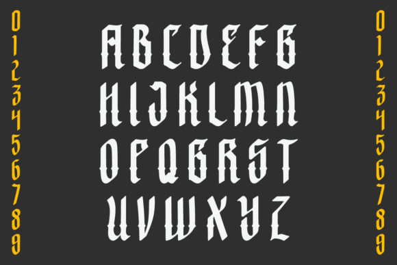 Print on Demand: Crashburn Blackletter Font By yellowline - Image 2