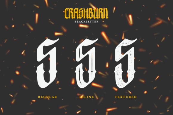 Print on Demand: Crashburn Blackletter Font By yellowline - Image 3
