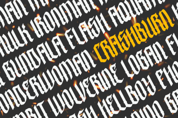 Print on Demand: Crashburn Blackletter Font By yellowline - Image 4