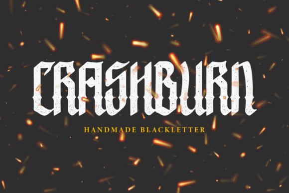 Print on Demand: Crashburn Blackletter Font By yellowline