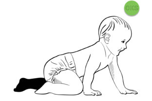 Download Free Crawling Baby Vector Graphic By Crafteroks Creative Fabrica for Cricut Explore, Silhouette and other cutting machines.