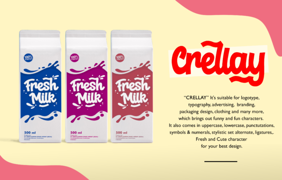 Download Free Crellay Font By Holydie Studio Creative Fabrica for Cricut Explore, Silhouette and other cutting machines.
