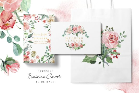 Creme & Rose Watercolor Set Graphic Illustrations By Creativeqube Design - Image 7