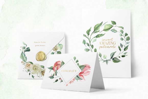 Creme & Rose Watercolor Set Graphic Illustrations By Creativeqube Design - Image 10