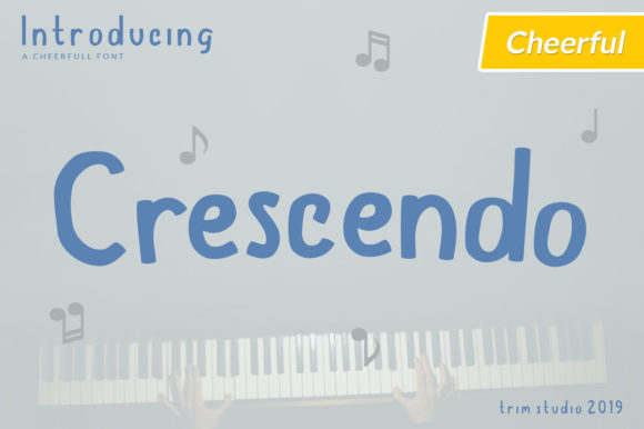Print on Demand: Crescendo Display Font By Trim Studio