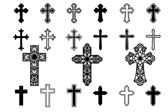 Print on Demand:  Crosses Clipart, Christian Graphic Crafts By yulnniya