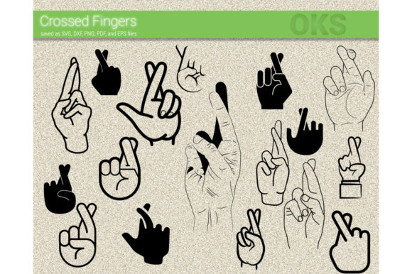 Download Free Crossed Fingers Svg Vector Graphic By Crafteroks Creative Fabrica for Cricut Explore, Silhouette and other cutting machines.