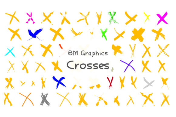 Print on Demand: BM Graphics - Crosses Dingbats Font By GraphicsBam Fonts