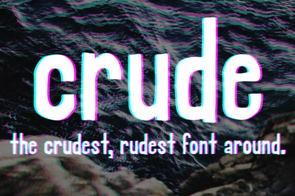 Print on Demand: Crude Sans Serif Font By Jmoroun