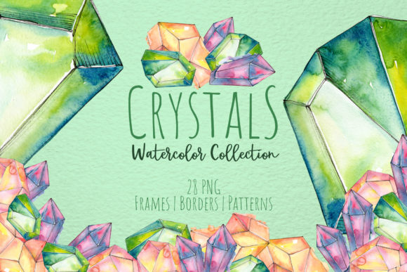 Print on Demand: Crystals Are Blue, Green and Red Graphic Illustrations By MyStocks