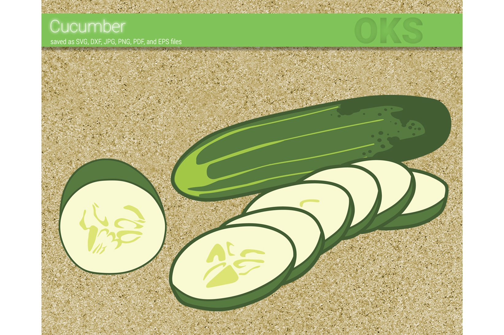 Download Free Cucumber Graphic By Crafteroks Creative Fabrica for Cricut Explore, Silhouette and other cutting machines.