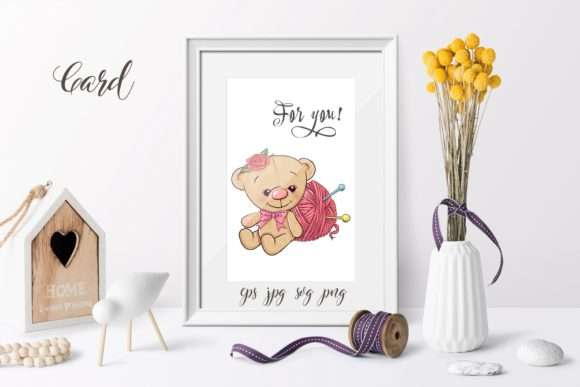Print on Demand: Cute Bear - Vector Clip Art Graphic Illustrations By nicjulia - Image 2