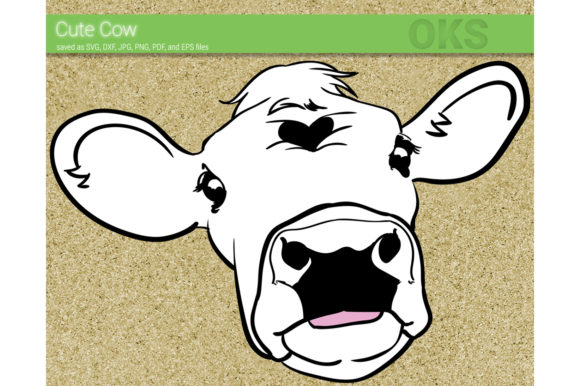 Download Free Cute Cow Head Svg Vector Graphic By Crafteroks Creative Fabrica for Cricut Explore, Silhouette and other cutting machines.