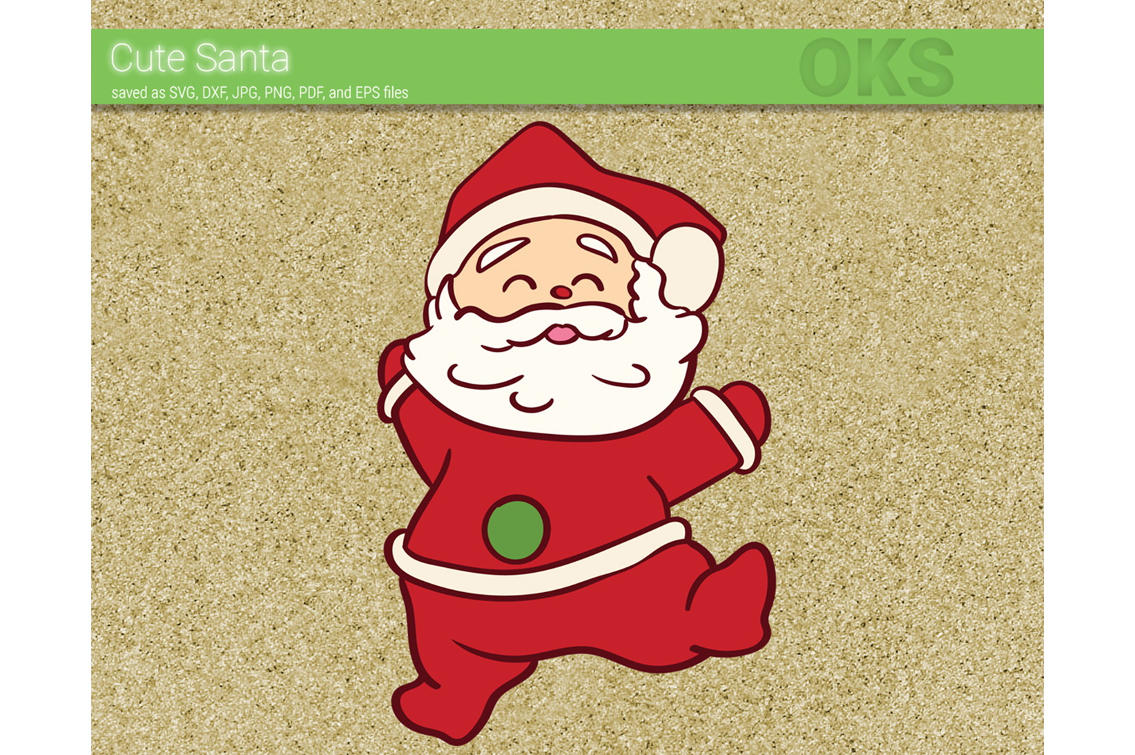 Download Free Cute Santa Claus Svg Vector Graphic By Crafteroks Creative Fabrica for Cricut Explore, Silhouette and other cutting machines.