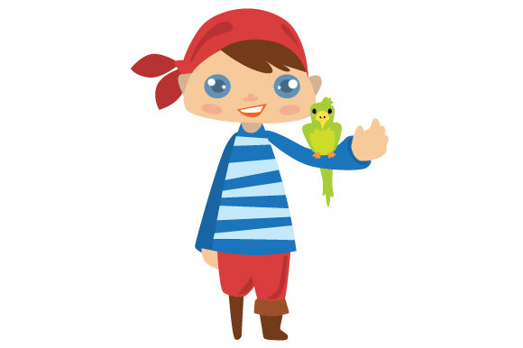 Cute Pirate Boy Svg Cut File By Creative Fabrica Crafts