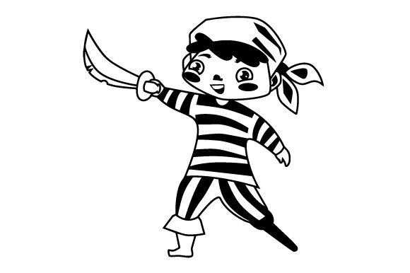 Download Free Cute Pirate Boy Svg Cut File By Creative Fabrica Crafts for Cricut Explore, Silhouette and other cutting machines.