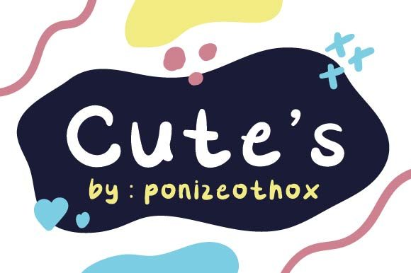 Print on Demand: Cute's Display Font By ponizeothox