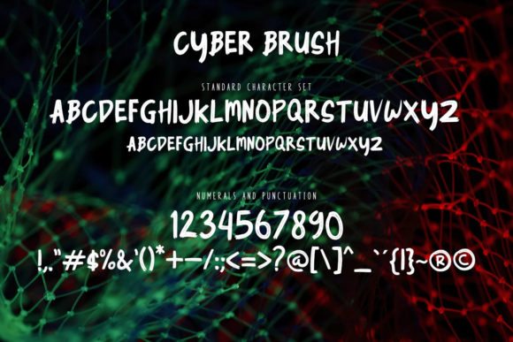Cyber Brush Font By rudhisasmito Image 2