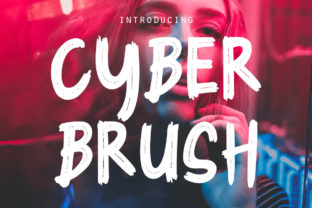 Cyber Brush Font By rudhisasmito