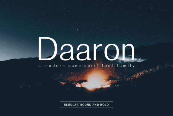 Print on Demand: Daaron Family Sans Serif Font By Creative Tacos