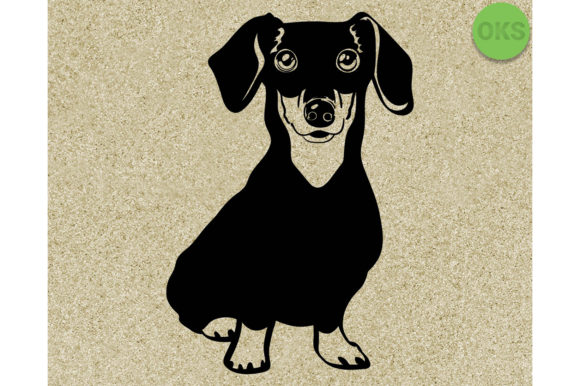 Download Free Dachshund Vector Graphic By Crafteroks Creative Fabrica for Cricut Explore, Silhouette and other cutting machines.
