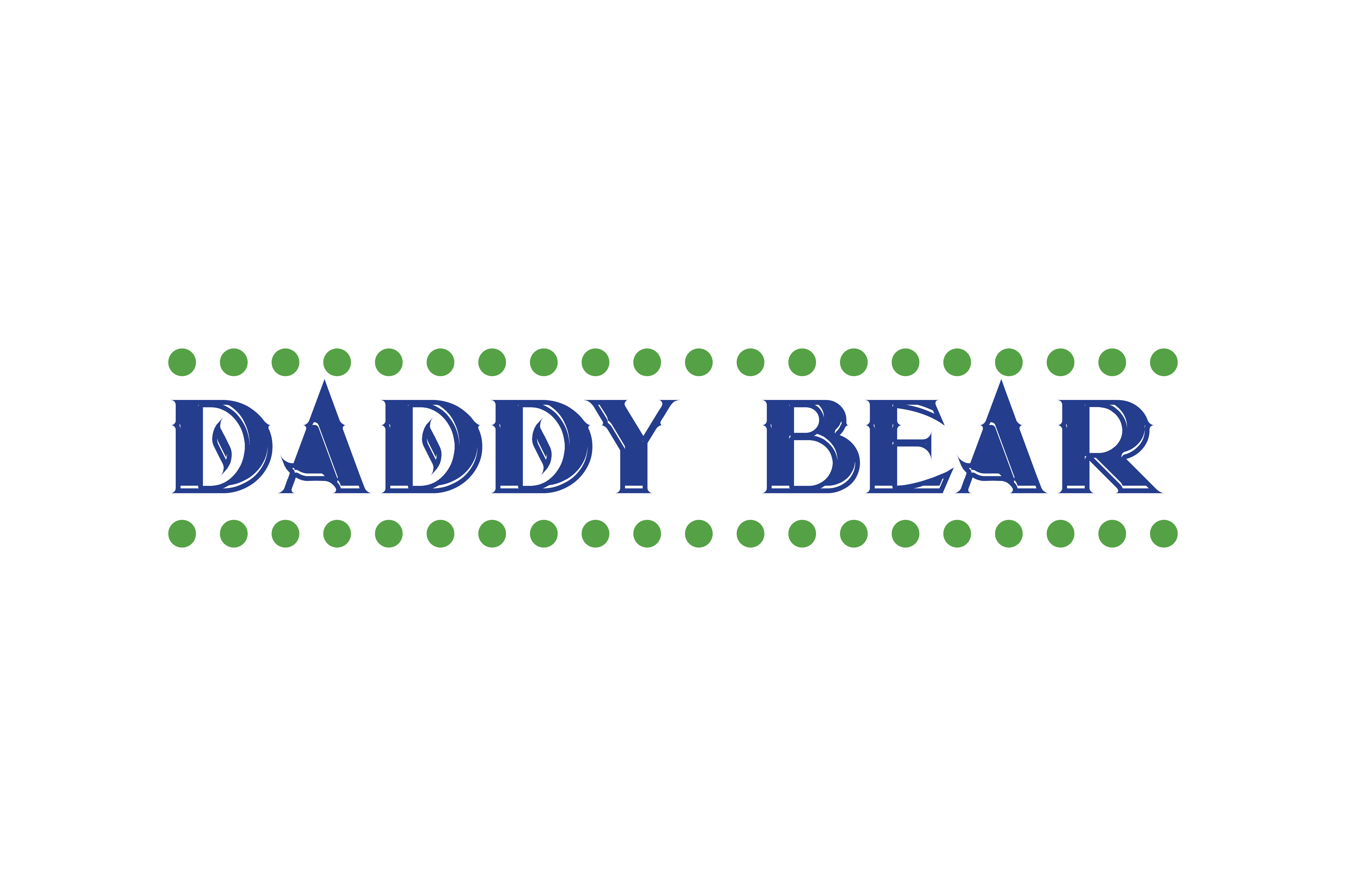 Download Free Daddy Bear Quote Svg Cut Graphic By Thelucky Creative Fabrica for Cricut Explore, Silhouette and other cutting machines.
