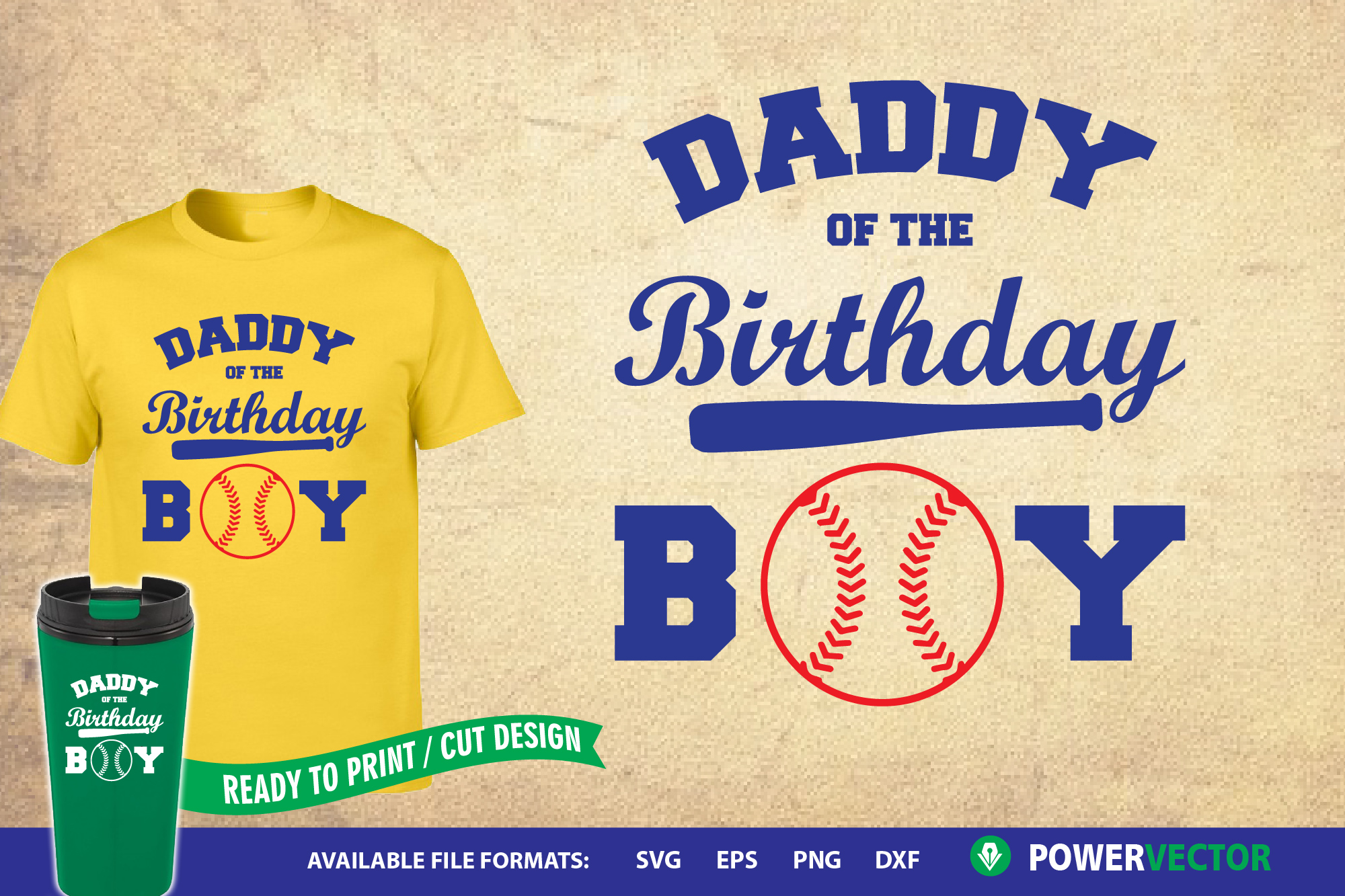Download Free Daddy Of The Birthday Boy Svg Design Graphic By Powervector for Cricut Explore, Silhouette and other cutting machines.